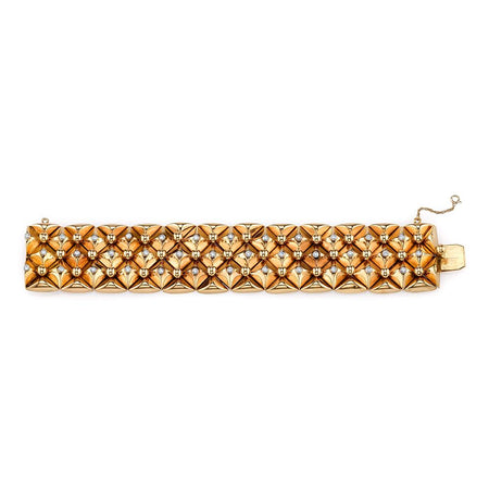 Retro Yellow Gold Bracelet