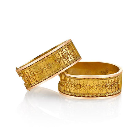 Etruscan Revival Bangle Bracelets