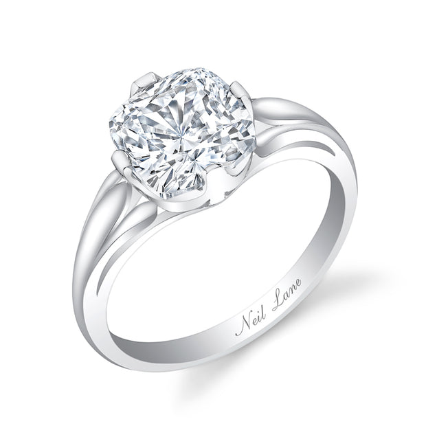 NEIL LANE COUTURE DESIGN CUSHION BRILLIANT-CUT DIAMOND, PLATINUM RING