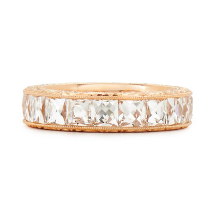 Neil Lane Couture French-Cut Diamond, 18K Rose Gold Eternity Band