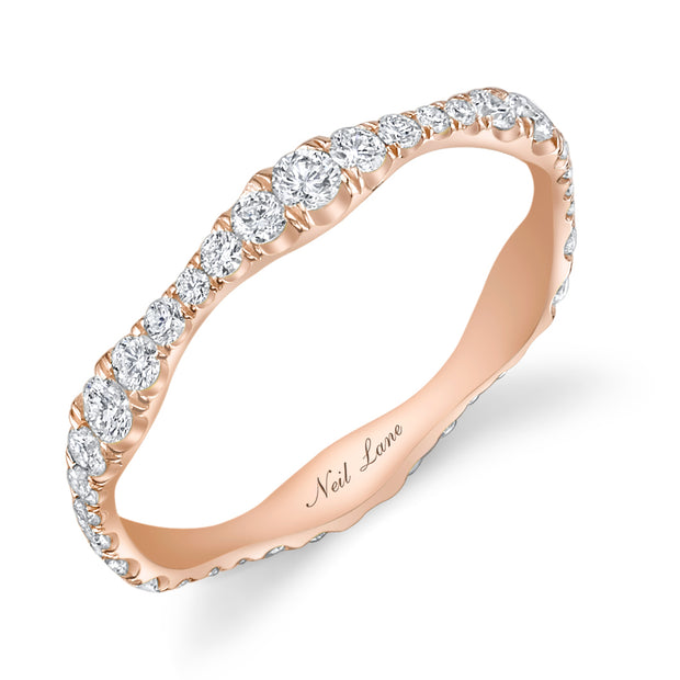 Round Diamond, 18k Rose Gold Eternity Band