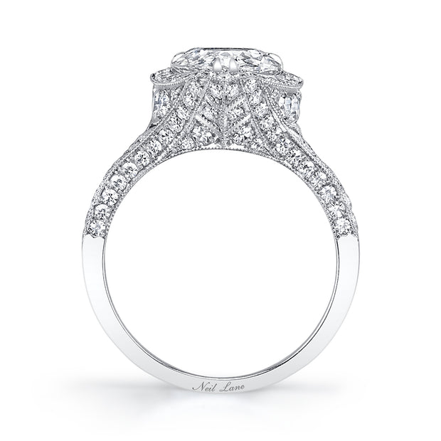 NEIL LANE PEAR BRILLIANT-CUT DIAMOND, PLATINUM RING