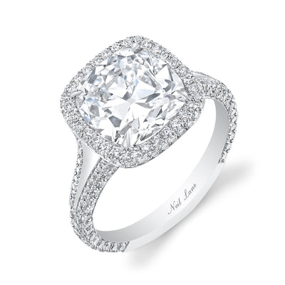 NEIL LANE COUTURE DESIGN CUSHION-SHAPED DIAMOND, PLATINUM RING