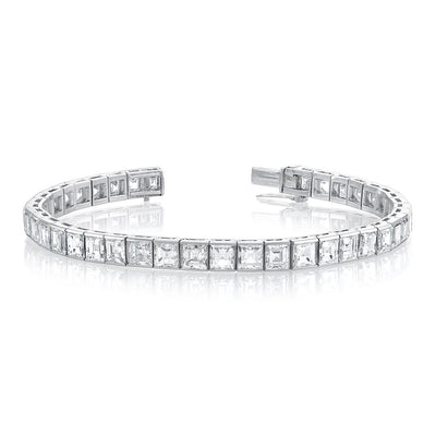 European-Cut Diamond Tennis Bracelet