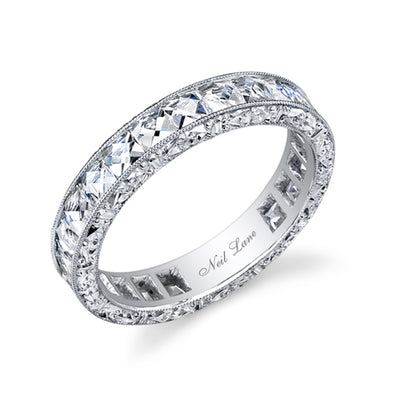 Neil Lane Couture Platinum Hand Engraved Band