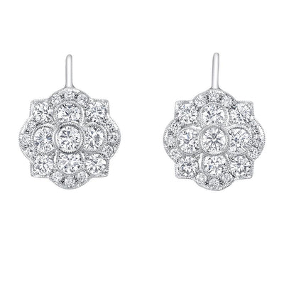 NEIL LANE DIAMOND, PLATINUM EARRING