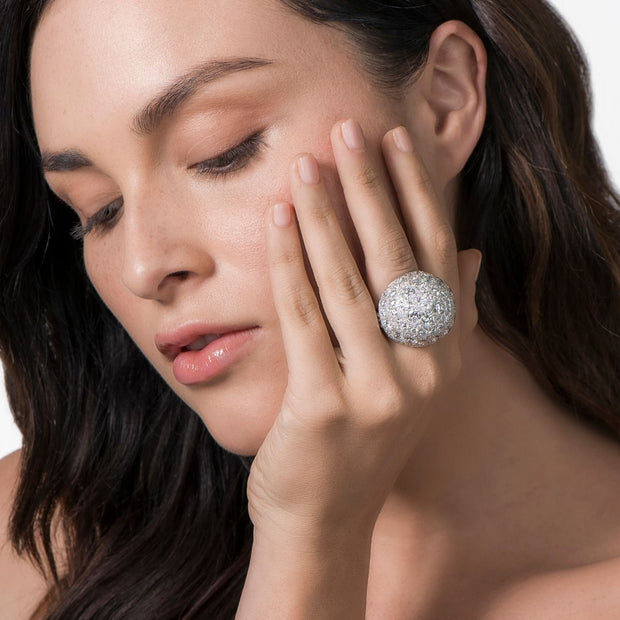 Neil Lane Couture Design Diamond & Platinum Dome Ring