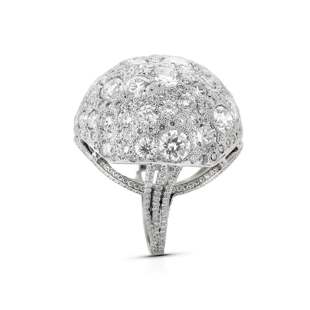 NEIL LANE DESIGN DIAMOND & PLATINUM DOME RING