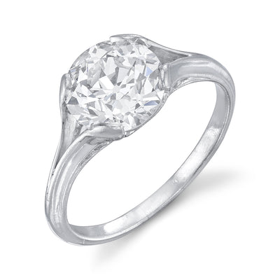 ANTIQUE OLD EUROPEAN-CUT DIAMOND, PLATINUM RING