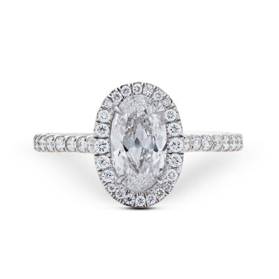 NEIL LANE DESIGN MOVAL DIAMOND, PLATINUM ENGAGEMENT RING