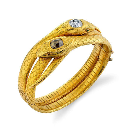 Yellow Gold Snake Bracelet