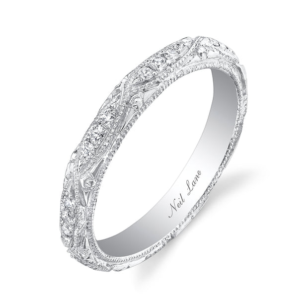 NEIL LANE DIAMOND, ENGRAVED PLATINUM ETERNITY BAND