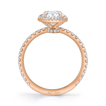 Oval Diamond, 18k Rose Gold Engagement Ring