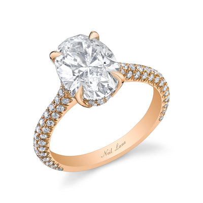Oval Diamond, 18k Rose Gold Ring