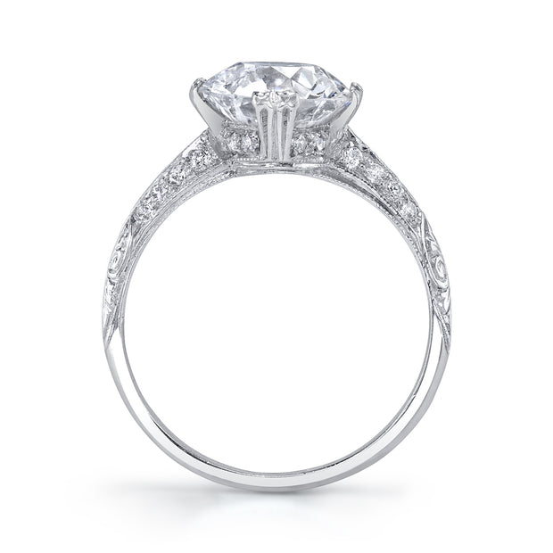 Art Deco Style Diamond, Platinum Engagement Ring