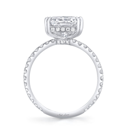 Princess-Cut Diamond and Platinum Ring