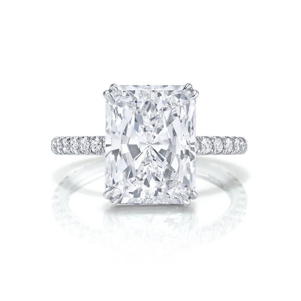 Neil Lane Couture Princess-Cut Diamond And Platinum Ring