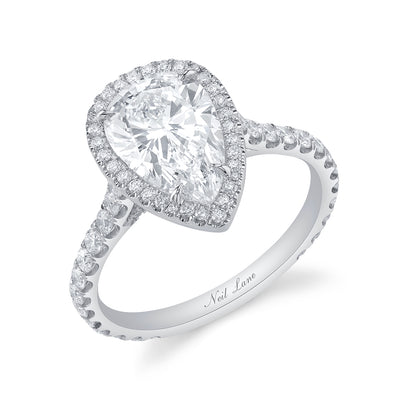 Contour Halo and Pear-Shaped Diamond Ring