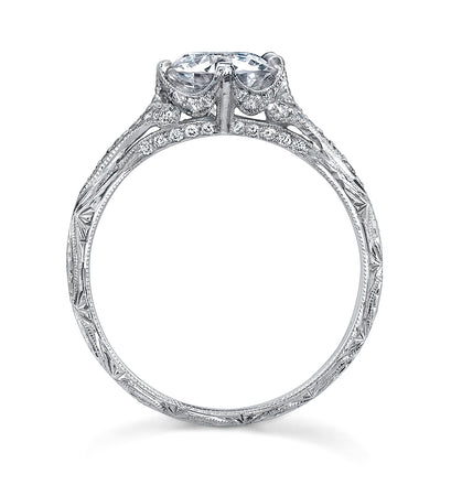 Edwardian Style Diamond, Platinum Engagement Ring