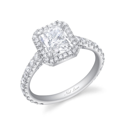 Radiant Diamond, Platinum Engagement Ring