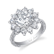 NEIL LANE ROUND CUT DIAMOND, SUNFLOWER ENGAGEMENT RING