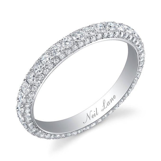 Neil Lane Couture Diamond, Platinum Three Sided Eternity Band