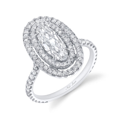NEIL LANE COUTURE DESIGN MOVAL DIAMOND, PLATINUM ENGAGEMENT RING