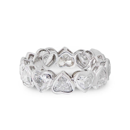 NEIL LANE HEART-SHAPED DIAMOND, PLATINUM ETERNITY BAND