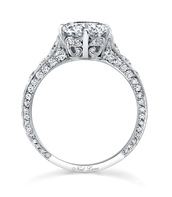 NEIL LANE ROUND BRILLIANT-CUT DIAMOND, PLATINUM RING