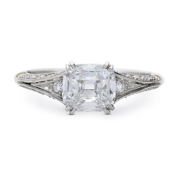 NEIL LANE CUSHION DIAMOND, PLATINUM ENGAGEMENT RING