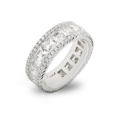 NEIL LANE FRENCH-CUT DIAMOND, PLATINUM ETERNITY BAND