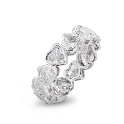 Neil Lane Couture Heart-Shaped Diamond, Platinum Eternity Band