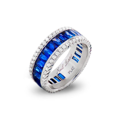 NEIL LANE SAPPHIRE, DIAMOND, PLATINUM ETERNITY BAND