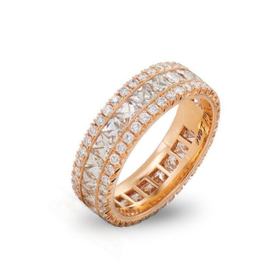 NEIL LANE DIAMOND, 18K ROSE GOLD ETERNITY BAND
