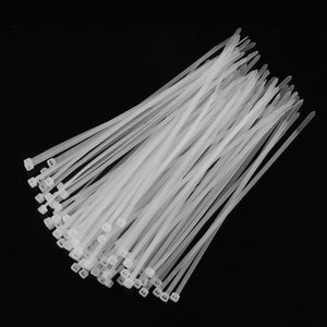100 Pack Self-Locking Nylon Cable Zip Ties - Storage