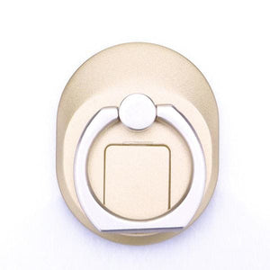 2-in-1 Smart Phone Finger Ring Stand with Built in SIM Card Carrying Slot - Golden - Phones