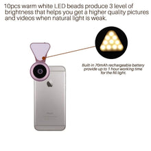 3-In-1 Wide Angle 15X Clip-On Cell Phone Camera Lens Kit - Phones