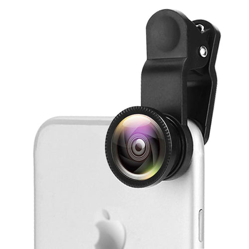 3-in-1 Wide Angle Macro Fisheye Clip-On Lens for Mobile Phones - Phones