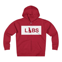 White Block LABS Unisex Heavyweight Fleece Zip Hoodie