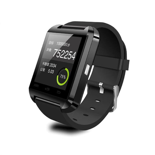 Bluetooth Smart Watch for Android Smartphones - Black - Watches