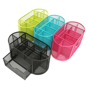 Bright Metal Mesh Desk Organizer - Storage
