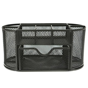 Bright Metal Mesh Desk Organizer - Black - Storage