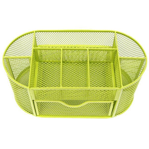 Bright Metal Mesh Desk Organizer - Green - Storage