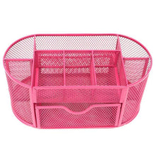 Bright Metal Mesh Desk Organizer - Pink - Storage