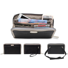 Cell Phone Wallet & Travel Organizer - Black - Wallets