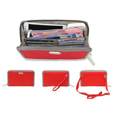 Cell Phone Wallet & Travel Organizer - Red - Wallets