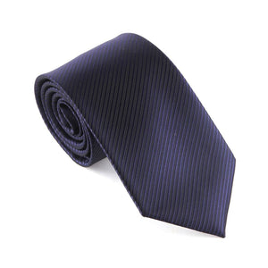 Classic Striped Necktie (Waterproof!) - black1 - Neckties