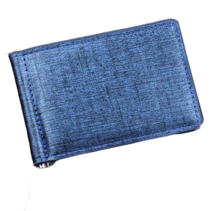 Clipped Bifold Business Wallet - Blue - Wallets