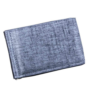 Clipped Bifold Business Wallet - Gray - Wallets