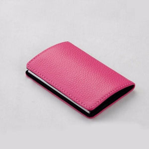 Credit Card & Business Card Case - Hot Pink - Wallets